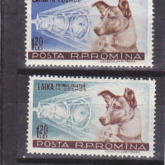 Catelusa Laika, Nr lista 447, Romania. - Timbre Romania