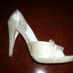 Pantofi mireasa Veronesse, saten, ivoire, nr.38 - Pantof dama