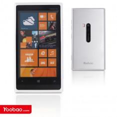 Husa TPU 2 in 1 + Folie Fata Nokia Lumia 920 by Yoobao Originala White - Husa Telefon