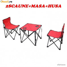 SET 2 SCAUNE+MASA PLIANTE+HUSA TRANSPORT! PROMOTIE MUNTE,MARE,CONCEDIU!