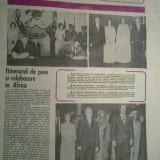 Ziarul romania literara 26 aprilie 1979 (vizita familiei ceausescu in mozambic, burundi si sudan )