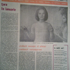 Ziarul saptamana 8 ianuarie 1982 (ziua de nasterea a elenei ceausescu )