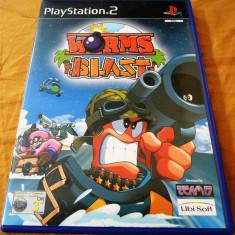 Joc Worms Blast PS2, original, alte sute de jocuri! - Jocuri PS2 Ubisoft, Actiune, 3+, Single player