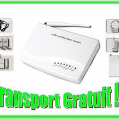 Alarma Casa GSM 02 cu Senzori Wireless + Senzor Shock Sistem complet antiefractie !