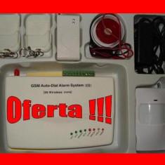 SISTEM DE ALARMA PENTRU CASA GSM 07 - oferta limitata - Senzor shock GRATUIT cadou !!!