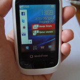 VODAFONE 455 / Alcatel OT-455: telefon decodat cu touchscreen si slot card - Telefon mobil Vodafone, Alb, <1GB, Neblocat, Fara procesor, Nu se aplica