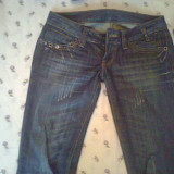 Pantaloni - Pantaloni dama, Marime: 28, Culoare: Albastru, Lungi, Albastru, Marime: 29