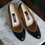 Pantofi dama piele intoarsa - Pantof dama, Culoare: Bej, Marime: 38.5, Bej