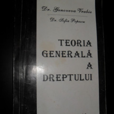 TEORIA GENERALA A DREPTULUI- GENOVEVA VRABIE, SOFIA POPESCU - Carte Teoria dreptului