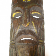 Masca de lemn ( din America Centrala) - Masca carnaval