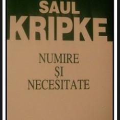 S. Kripke NUMIRE SI NECESITATE Ed. ALL 2001
