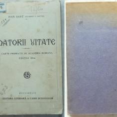 Jean Bart , Datorii uitate , interb. , cu tabel  manuscris al clasei autorului