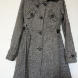 VILA paltonas dama, marimea S, culoare sare si piper, doar 120 lei!!!