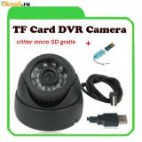 CAMERA CAMERE SUPRAVEGHERE  cu inregistrare pe card Micro- SD  Infrarosu. CAMERA DVR, Interior, Color, Digital