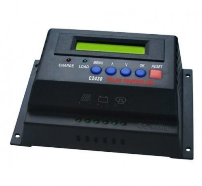 REGULATOR SOLAR. Controler solar. Regulator de incarcare 12v/24v -40 A. Afisaj. Panouri fotovoltaice foto