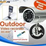 CAMERA CAMERE SUPRAVEGHERE cu inregistrare pe card micro SD. Camera cu DVR - Camera CCTV, Exterior, Digital, Color