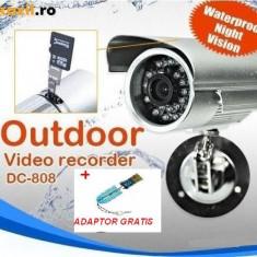 CAMERA CAMERE SUPRAVEGHERE cu inregistrare pe card micro SD. Camera cu DVR, Exterior, Color, Digital