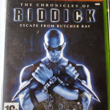 Vand jocuri xbox 1, ca nou, actiune, THE CHRONICLES OF RIDDICK ESCAPE FROM BUTCHER BAY