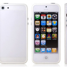 Bumper Case iPhone 5 5S White - Bumper Telefon, Alb