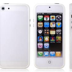 Bumper Case iPhone 5 5S White - Bumper Telefon, Alb