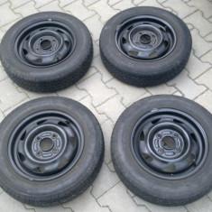 De vanzere 4 jenti de fier cu pneuri de vara 99% nou Bridgestone 155/70/13 - Janta tabla Ford