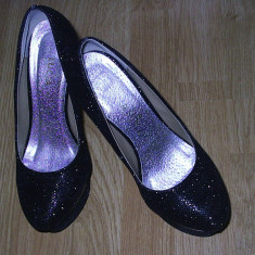 Pantofi negri eleganti - Pantof dama Benvenuti, Culoare: Negru, Marime: 38.5, Negru