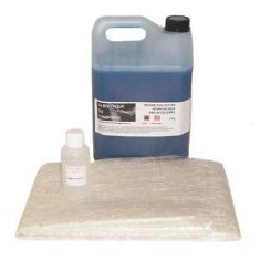 Kit rasina poliesterica 1 kg + fibra de sticla 1 m.p. (450 gr/mp) + intaritor