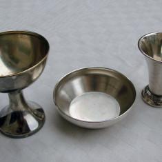 Trei piese din alama argintata - perioada interbelica, Vas