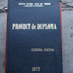 Vand proiect diploma IPT Timisoara Facultatea de Constructii vintage
