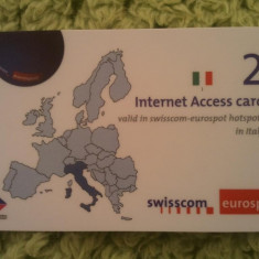 Cartela Elvetia Internet Acces Card, 5 roni