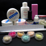 Set kit gel uv kit unghii false kit manichiura 3 geluri uv gel constructie, Sina