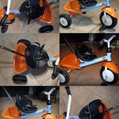 Tricicleta Kettler Funtrike Albastru, cu centura de siguranta