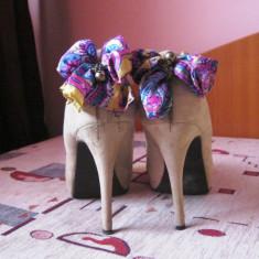 Pantofi nude Bata - Pantof dama Bata, Marime: 38.5, Cu toc