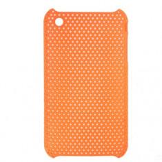 Husa iPhone 3G 3GS spate Hard Back Cover Case Perforata Orange
