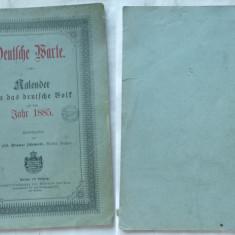 Calendar german pe anul 1885 , provine din Ardeal, Alta editura