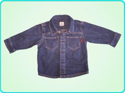 DE FIRMA → Camasa de blugi, denim subtire, H&M → baieti | 9—12 luni | 74—80 cm foto