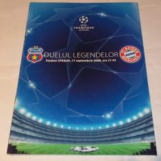 Program meci fotbal Steaua Bucuresti - Bayern Munchen (2008, Munich)