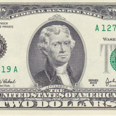 Bancnota Statele Unite ale Americii 2 Dolari 2003A (