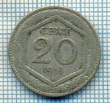 407 MONEDA VECHE - ITALIA - 20 CENTESIMI -anul 1918 -starea care se vede