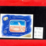 Ro-61=ROMANIA 1976 J.Olimpice Montreal colita nedantelata MNH - Timbre Romania, Nestampilat
