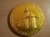 Medalie Voronet 500 ani, 1488-1988, 16,50 grame, medalie foarte mare !!!