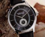 Ceas de Lux HAAS et CIE ORIGINAL extraplat 8 mm , Dark Grey , macanism SWISS MADE