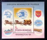 Colita-Expozitia mondiala filatelie Washington 1989