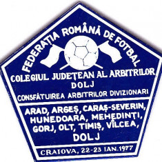 Insigna fotbal - Consfatuirea Arbitrilor