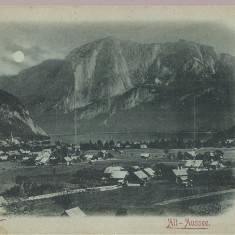 CPI (B2511) AUSTRIA, ALT-AUSSEE, EDITURA STENGEL & Co, DRESDEN, CIRCULATA 25. IUL. 1900, STAMPILA SINAIA CU GOARNA, TIMBRU, Europa, Printata