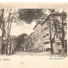 CPI (B2483) ITALIA. LA SPEZIA, VIALE GARIBALDI, EDITURA CARTOLERIA MILANO, SPEZIA, CIRCULATA 21.IAN. 1902, STAMPILA, Europa, Printata