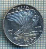 487 MONEDA - ITALIA - 50 CENTESIMI -anul 1941 - magnetica -eroare de batere la cifra unu a miilor, uzura matrita-starea care se vede