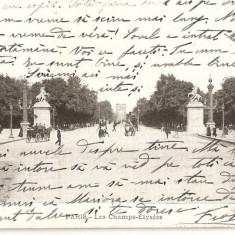 CPI (B2482) FRANTA, PARIS. LES CHAMPS-ELYSEES, CIRCULATA 16.OCT. 1906, STAMPILE