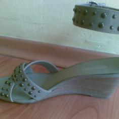 Sandale marimea 39, arata impecabil! - Sandale dama Next, Culoare: Gri