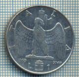 469 MONEDA  - ITALIA  - 1 LIRA  -anul 1940 - magnetica -eroare de batere, uzare matrita, cifrele 1 si 9 mai putin accentuate-starea care se vede
